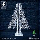 ショッピングクリスマスイルミネーション 業務用 イルミネーション 大型モチーフ2D クリスマス 屋外 防雨 LEDストリング アビエスツリー 2枚