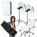 【撮影機材ライトグラフィカ】「ソク撮」入門テーブル付150Wストロボ2灯セット・