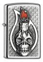 ヨーロッパ直輸入Zippo ジッポー Candle Skull Emblem 2005165 zippo ジッポ ライター オプション購入で名入れ可