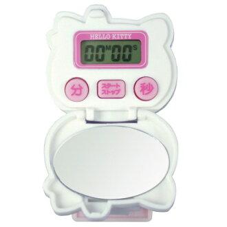 你好,基蒂剪輯計時器 T 176 鏡子 w/廚房計時器