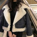 ショッピング防寒 2019年新作 秋 冬 2color フェイクファー ムートン ジャケット ムスタン トレンドのファーがポイントのライダース調アウター しっかりとした厚みが防寒性に最適 オシャレと暖かさと両立して取り入れられるジャケット
