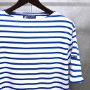【 SAINT JAMES / セントジェームス 】 PIRIAC / ピリアック ボーダー 半袖 Tシャツ ◆ NEIGE×GITANE [ホワイト×コバルト...