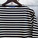 【 SAINT JAMES / セントジェームス 】 OUESSANT BORDER / ウエッソン ボーダー /ボーダーバスクシャツ / 長袖ボーダーTシャツ ◆NOIR/..