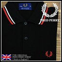 2010S/S UK企画『M12N』【FRED PERRY フレッドペリー】 英国製ラインポロシャツ メンズフレッドペリーポロシャツ 半袖ポロシャツMade in England 186:BLACK /WHITE /RED ◆送料無料 10P14feb11