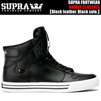 SUPRAVAIDERCLASSICSS28293/BKWBlackleather.Blacksole.【スープラスニーカー】