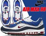 NIKE AIR MAX 98 white/university red-obsidian【ナイキ エアマックス 98 エア マックス スニーカー GUNDAM ガンダム トリコロール SEISMIC VELOCITY】
