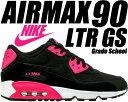 NIKE AIR MAX 90 LTR GS black/p...