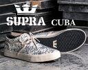 SUPRA WOMENS CUBA white/black-woven【スープラ キューバ レディース ウィメンズ スニーカー】98105-162