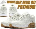 NIKE WMNS AIR MAX 90 PREMIUM sail/sail-gum light brown【ナイキ エアマックス 90 プレミアム スニーカー レディース ウィメンズ エア マックス