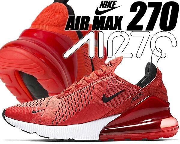 NIKE AIR MAX 270 habanero red/black-white 【ナイキ エアマックス 270 スニーカー メンズ エア マックス 270 AIRMAX ランニングシューズ ハバネロ レッド】