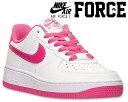 NIKE AIR FORCE 1 (GS) white/hot pink 314219-124 ナイキ エアフォース 1 GS スニーカー ホワイト ピンク