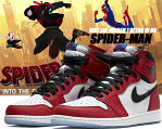 "NIKE AIR JORDAN 1 RETRO HI OG SPIDER-MAN ""ORIGIN STORY"" gym red/black-white-photo blue 555088-602 ナイキ エアジョーダン 1 ハイ OG スパイダーマン マーベル AJ1 スニーカー"