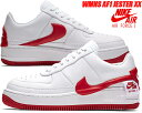 NIKE WMNS AF1 JESTER XX white/university red 【ナイキ ウィメンズ AF1 ジェスター スニーカー レディース エア フォース 1 AIR FORCE 1】