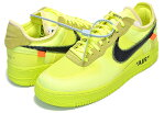 THE 10 : NIKE AIR FORCE 1 LOW OFF-WHITE volt/black-volt-cone ナイキ エアフォース1 オフホワイト THE TEN AF1 ボルトイエロー VIRGIL ABLOH ao4606-700