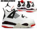 NIKE JORDAN 4 RETRO(TD) white/black-bright crimson bq7670-116 ナイキ ジョーダン 4 トドラー キッズ シューズ スニーカー HOT LAVA 子供靴 10cm〜16cm AJIV