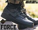 ショッピングエアフォース NIKE AIR FORCE 1 WINTER GORE-TEX black/black-anthracite cq7211-003 ナイキ エアフォース 1 ウインター ゴアテックス AF1 撥水 防水 スニーカー 雨 GTX ブラック The 10th 国内未発売