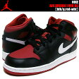 NIKE AIR JORDAN 1 MID BGblk/g.red-wht