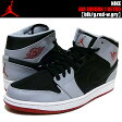 NIKE AIR JORDAN 1 MID blk/g.red-w.gry