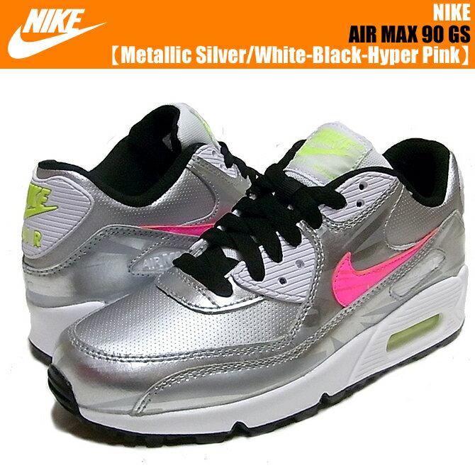 ... women nike air max 90 black/hyper pink/white ...