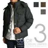 メンズ/スーツ地ウール混ツィード中綿ジャケット【RG-0361】