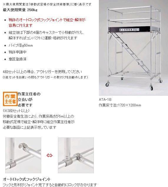 移動式足場 ATA-3HB【送料無料】(ピカ20...の商品画像