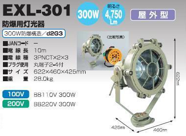 防爆用投光器(100V用・200V用)EXL-3...の商品画像