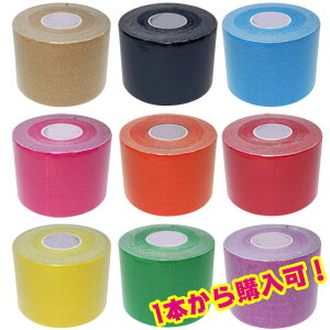 パワーイオテープ カラーキネシオロジーテープ キネシオテープ テーピング