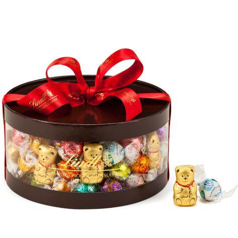 リンツ Lindt チョコレート クリスマスリンドール ギフトボックス 100個入り/16種 | チョコ お菓子 ギフト プレゼント スイーツ ギフトセット 海外 友達 妻 お礼 女性 おかし お返し リンドールチョコ かわいい クリスマスギフト クリスマスプレゼント 輸入 手土産
