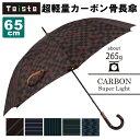 【傘 メンズ】 超軽量カーボン雨傘(65cm) 【Toisto(トイスト)】【53872-53877】【02P03Jun16】