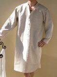 「ランドゥヨーコ」リネンスリーパー(ワンピースタイプパジャマ)メンズ ナチュラルシャンブレー【楽ギフ包装】【RCP】【HLSDU】【リネン100%】【05P01Mar15】【楽ギフ