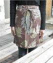 【セール品】繁栄と豊穣の幸運アイテムハワイアン柄 パンの実柄のリネンエプロン[%OFF]va-re-n2009