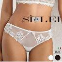 SIELEI/シーレイ【GLAM(グラム】直輸入イタリアインポートランジェリーイタリア Tバックソングショーツ2WAYストレッチ刺繍入りチュール