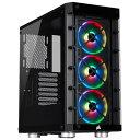 【箱破損品(新品)】CORSAIR iCUE対応 強化ガラスサイドパネル採用のATXミドルタワーPCケース iCUE 465X RGB Black (CC-9011188-WW) ブラック