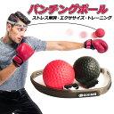 パンチングボール ボクシング ボール トレーニング エクササイズ 動体視力 反射神経 瞬発力 自宅 簡単 ストレス発散 ストレス解消 送料無料