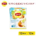 フレーバーティー リプトン 公式 無糖 シトラスシャイン 2g×12袋 紅茶 ティーバッグ Lipton LIPTON