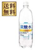 【送料無料】サンガリア 炭酸水 1000ml(1L)×24本(2ケース)【北海道・沖縄県は対象外となります。】