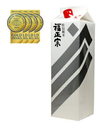 送料無料ケース販売福正宗銀ラベル特別純米酒パック18L×6本北海道・沖縄県・東北・四国・九州地方は必