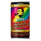 サントリー BOSS ボス レインボーマウンテン 185ml×30本(1ケース)【ご注文は3ケースまで同梱可能です】