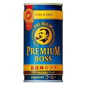 サントリー BOSS プレミアムボス 185ml×30本(1ケース)【ご注文は3ケースまで同梱可能です】