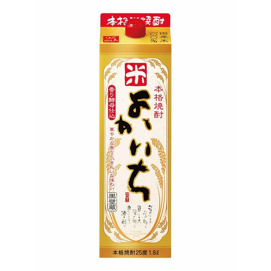 【送料無料】宝酒造 よかいち 米 25度 パック 1.8×6本【北海道・沖縄県・東北・四国・九州地方は必ず送料が掛かります。】