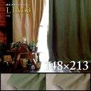 帆布フラットカーテンはんぷ カーテン『リモ』 カーテン 約148×213cm 1枚インダストリアル ブルックリン カーキ ベージュ ヴィンテージ..