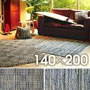 ラグマット 絨毯 インド キリム柄 ファブリックタイド 約1...