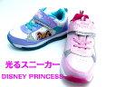 ディズニー 6998光る靴 キッズ・ジュニア スニーカー ディズニーキラキラ ディズニープリンセス【女の子】【紐なし】【子供靴】【15cm】【16cm】【17cm】【18cm】【19cm】