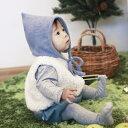 まるでおとぎ話の主人公♪こびとセット(帽子・ベスト・パンツ3点セット)【出産祝いギフト】ママとベビーの_赤ちゃん_帽子_耳がかくれる_冬_男の子_女の子_上下セット_セットアップ_ハロウィン_ベビー服_衣装_コスチューム_コスプレ_子供_かわいい_着ぐるみ_リシュマム