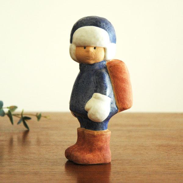 【予約商品】Lisa Larsonリサラーソン School Boy(スクールボーイ)初登校 彫像シリーズ 北欧オブジェ 置物【送料無料】【RCP】