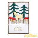 ウッドランド ケーキトッパー シカとキノコの森のトッパー  あす楽 リトルレモネード メリメリ