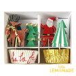 あす楽!【meri meri メリメリ】クリスマス カップケーキキット サンタ・トナカイ・ツリー【Very Merry cupcake kit】ホームパーティー スイーツ作り christmasparty テーブルコーディネート ディスプレイ