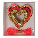 あす楽!【meri meri メリメリ】ウェディング ハート グリッター ガーランド 【Valentines day ウェディング装飾 ディスプレイ 】ペーパークラフト ラッピング【 happy wedding ウェディングデイ バナー デコレーション 】