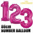 ネコポスOK【数字バルーン】約90CMのビッグナンバーバルーン 【ピンク】お誕生日のお祝いの飾り付けに 【バースデイ パーティーデコレーション フィルム風船】【ネコポス発送可】