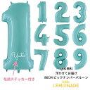 【送料無料】【浮かせてお届け】【◇パステルブルー◇ 数字バルーン】約90CMのビッグナ